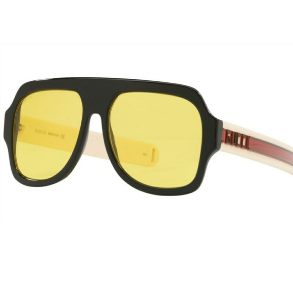 6e8b7e33590 Gucci Accessories - Gucci Yellow lenses Aviator GG0255S Sunglasses